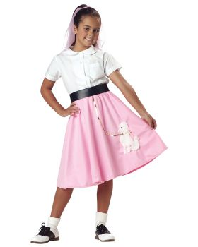 California Costumes 00361 Poodle Skirt Girl'S Costume