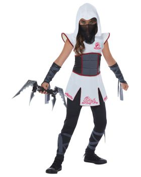 California Costumes 00567-00568 Spy Fearless Ninja Girls Costume