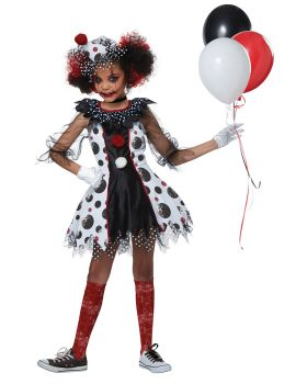 California Costumes 00586 Evil Circus Creepy Clown Girls Costume
