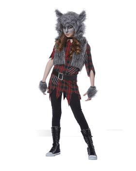 California Costumes 00609 Wolf Full Moon Werewolf Girls Costume