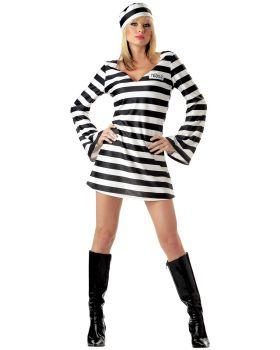 California Costumes 00784 Convict Chick Costume