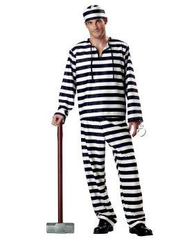 California Costumes 00801 Adult Jailbird Costume