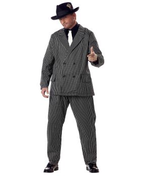 California Costumes 01176 Plus Size-Gangster