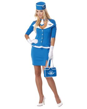 California Costumes 01209 Retro Stewardess Adult