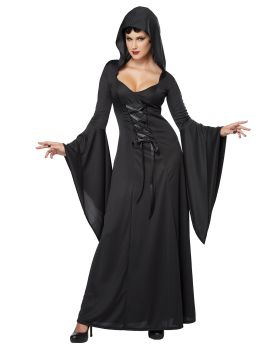 California Costumes 01338 Sexy Long Dress Deluxe Hooded Robe Costume