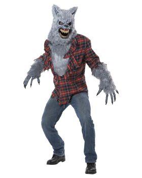 California Costumes 01373 Gray Lycan Vampire Werewolf Full Faux Fur Cost ...