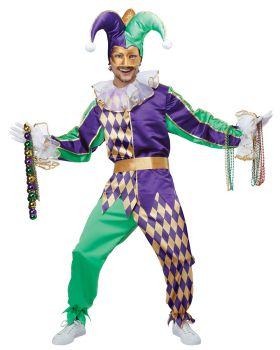 California Costumes 01400 Adult Mardi Gras Jester