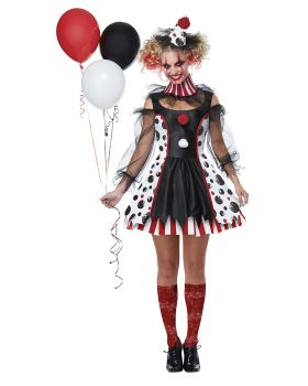 California Costumes 01435 Twisted Clown Adult Woman Costume