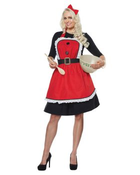 California Costumes 01498 Mrs. Claus Apron Adult