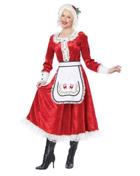 California Costumes 01556 Classic Mrs Claus Adult Costume