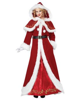California Costumes 01557 Mrs Claus Deluxe Adult Costume