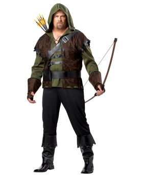 California Costumes 01695 Plus-Size Robin Hood Shirt With Vest