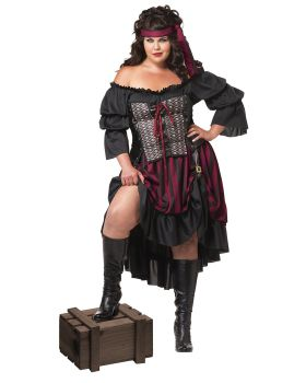 California Costumes 01715 Pirate Wench Plus