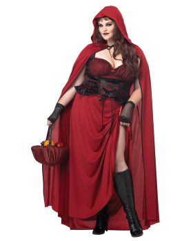 California Costumes 01719 Dark Red Riding Hood Plus