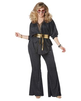 California Costumes 01777 Plus Size Disco Dazzler Adult Woman Costume