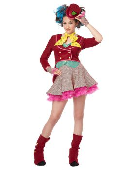 California Costumes 04064 Mad As A Hatter Tween Costume