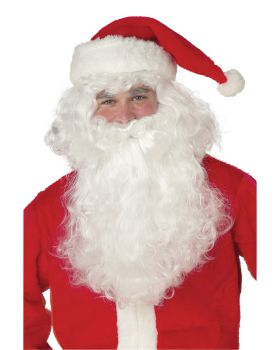 California Costumes 60089 Santa Claus Beard And Wig Set
