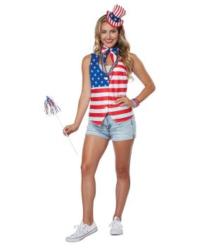 California Costumes 60687 Patriot Lady Kit Adult Woman Costume