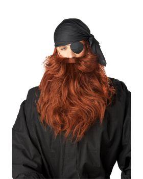 California Costumes 70489-70490 Pirate Beard & Moustache