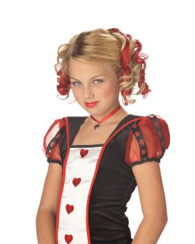 California Costumes 70608 Blonde And Red Curly Clips Wig