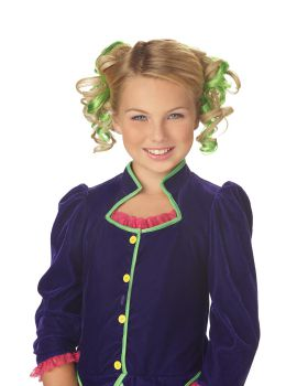 California Costumes 70609 Green Curly Hair Clips