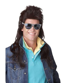 California Costumes 70620 80'S Rock Mullet Wig