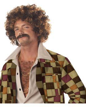 California Costumes CC70034 Disco Dirt Bag Wig & Mustache