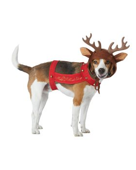 California Costumes PET20155 Reindeer Dog Costume