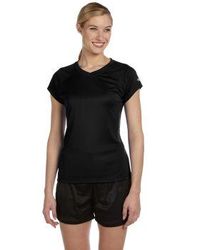 Champion CW23 Champion Women's Essential Double Dry V Neck T-Shirt