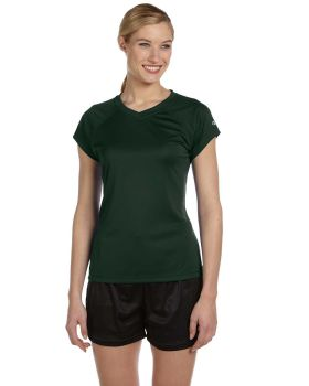 Champion CW23 Champion Women's Essential Double Dry V Neck T-Shirt