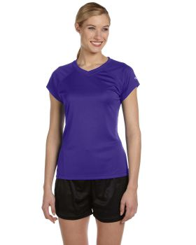 Champion CW23 Women's Double Dry V-Neck T-Shirt