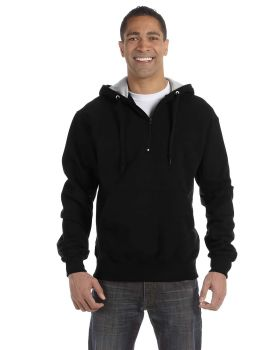 Champion S185 Max Hooded Cotton Quarter Zip Sweatshirt