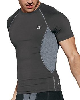 Champion T0135T Men's Gear Compression Short-Sleeve Tee