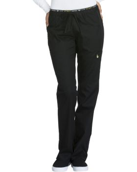 Cherokee CK003T Mid Rise Straight Leg Pull-on Pant