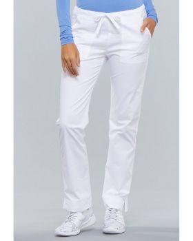 Cherokee Workwear 4203 Mid Rise Slim Drawstring Pant