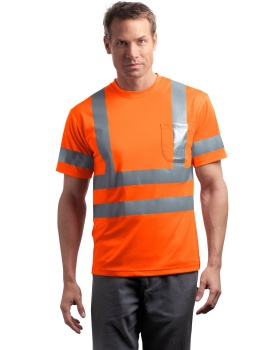 Cornerstone CS408 ANSI Class 3 Short Sleeve Snag-Resistant Reflective T- ...