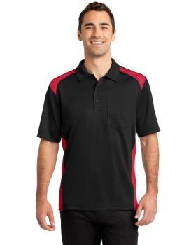 CornerStone CS416 Select Snag Proof Two Way Colorblock Pocket Polo Shirt