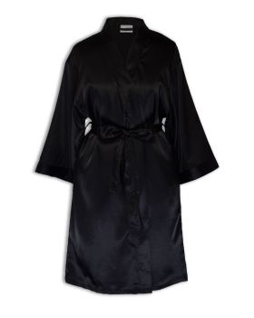 CottonAge SK New Womens Satin Robe - Side Pocket