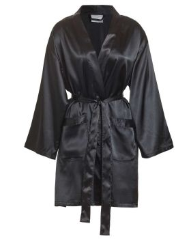 CottonAge SS Satin Robes - Front Pocket