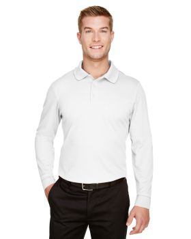 Devon & Jones DG20L CrownLux Performance Mens Plaited Long Sleeve Polo