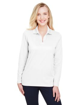 Devon & Jones DG20LW CrownLux Performance Ladies Plaited Long Sleeve Pol ...