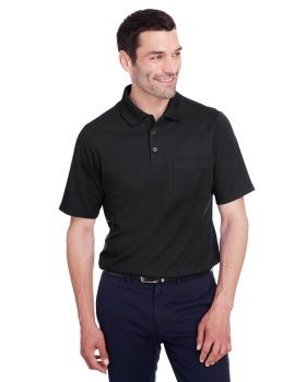 Devon & Jones DG20P Men's CrownLux Performance™ Plaited Polo with Pocket