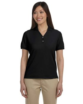 Devon & Jones D100W Ladies' Pima Piqué Short-Sleeve Y-Collar Polo