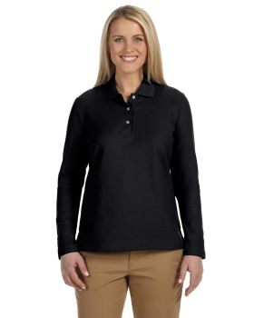 Devon & Jones D110W Ladies' Pima Piqué Long-Sleeve Polo