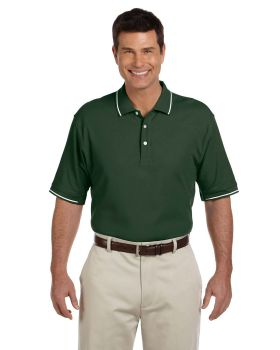 Devon & Jones D113 Men's Pima Piqué Short-Sleeve Tipped Polo