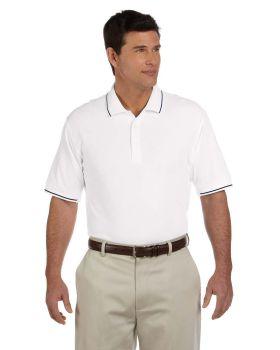 Devon & Jones D113 Men's Pima Piqué Short-Sleeve Tipped Polo