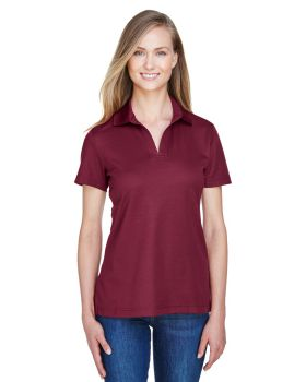 Devon & Jones DG20W CrownLux Performance Ladies' Plaited Polo