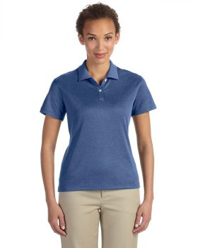 Devon & Jones DG210W Ladies' Pima-Tech Jet Piqué Heather Polo