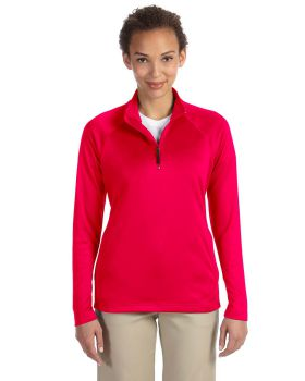 Devon & Jones DG440W Ladies' Stretch Tech-Shell Compass Quarter-Zip