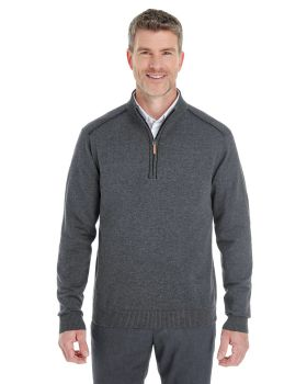 Devon & Jones DG478 Men's Manchester Fully-Fashioned Quarter-Zip Sweater